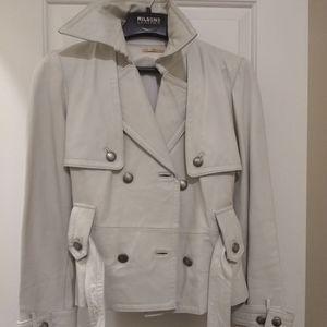 Eggshell White Premium Vintage Leather Jacket